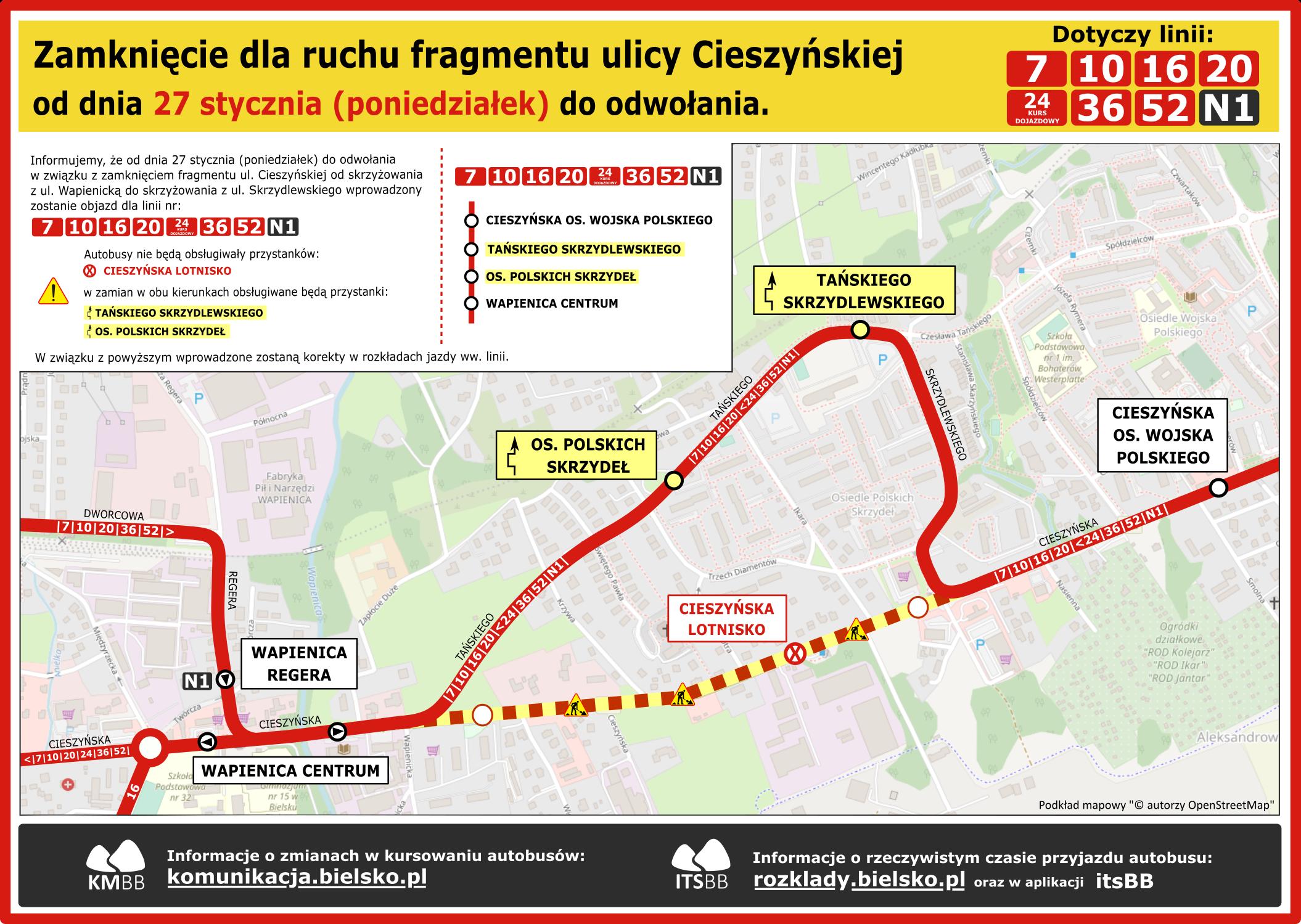 Cieszyńska-objazd