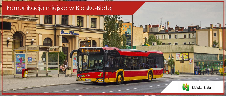 Baner komunikacja miejska w Bielsku-Białej - Solaris Urbino 12 IV