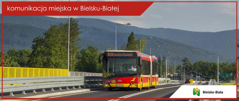 Baner komunikacja miejska w Bielsku-Białej - Solaris Urbino 18 IV