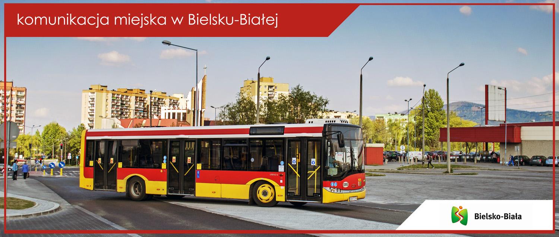 Baner komunikacja miejska w Bielsku-Białej - Solaris Urbino 12