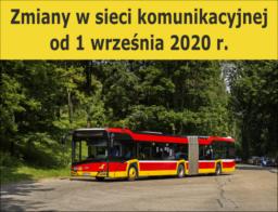 Zmiany w sieci komunikacyjnej od 1 września 2020 r.