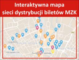 Interaktywna mapa sieci dystrybucji biletów MZK