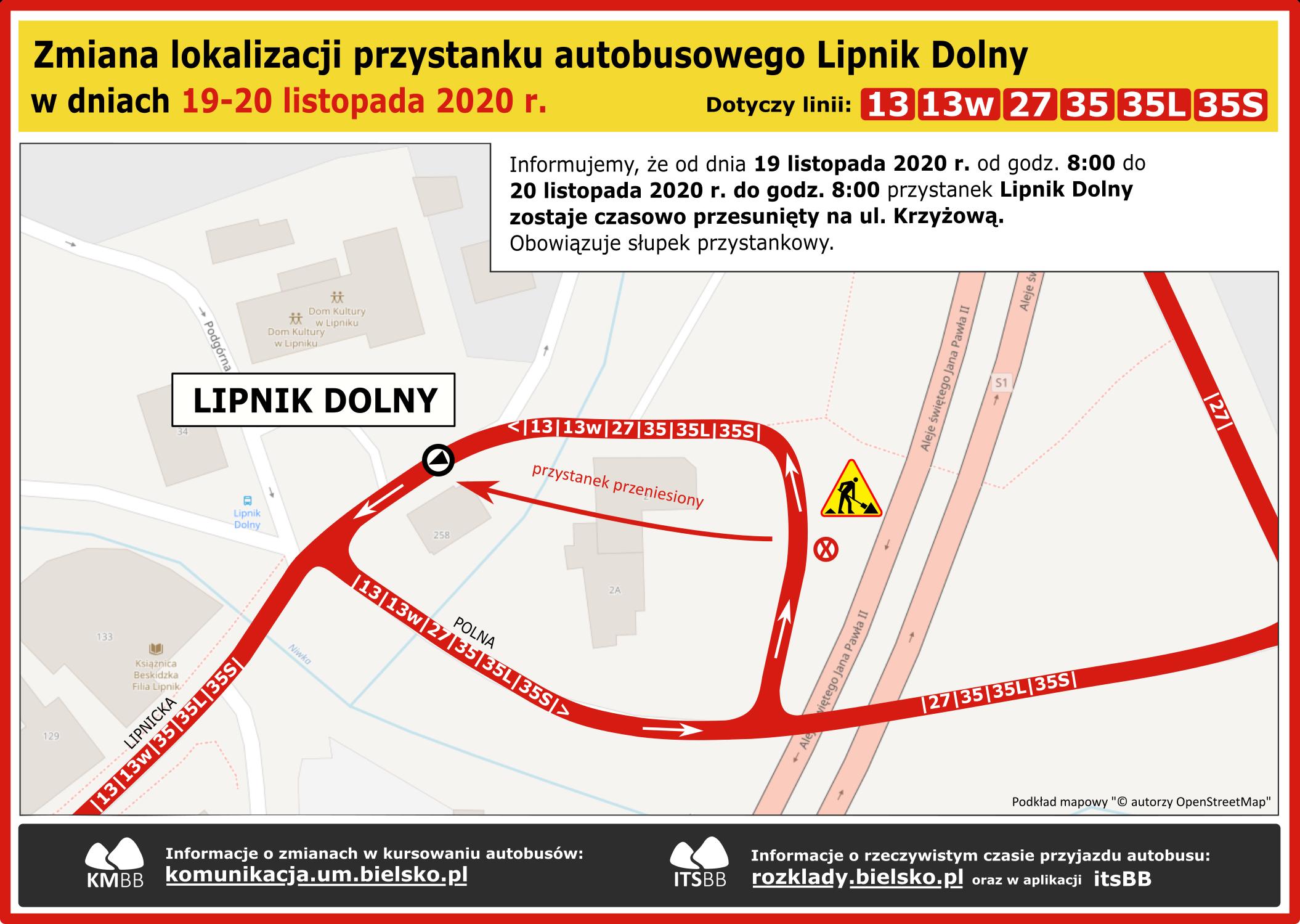 Zmiana organizacji ruchu w Lipniku