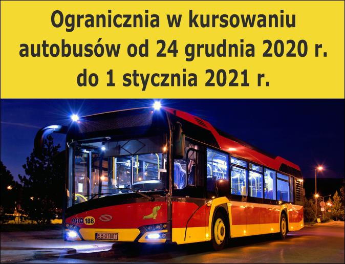 Zmiany w kursowaniu autobusów w grudniu 2020 r.