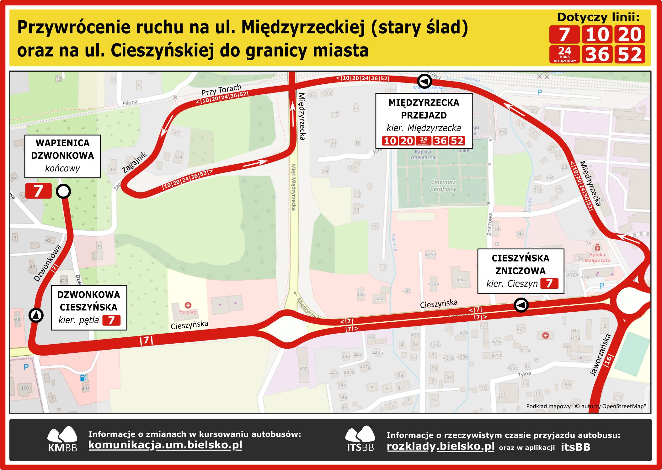 Przywrócenie ruchu na ul. Międzyrzeckiej i ul. Cieszyńskiej