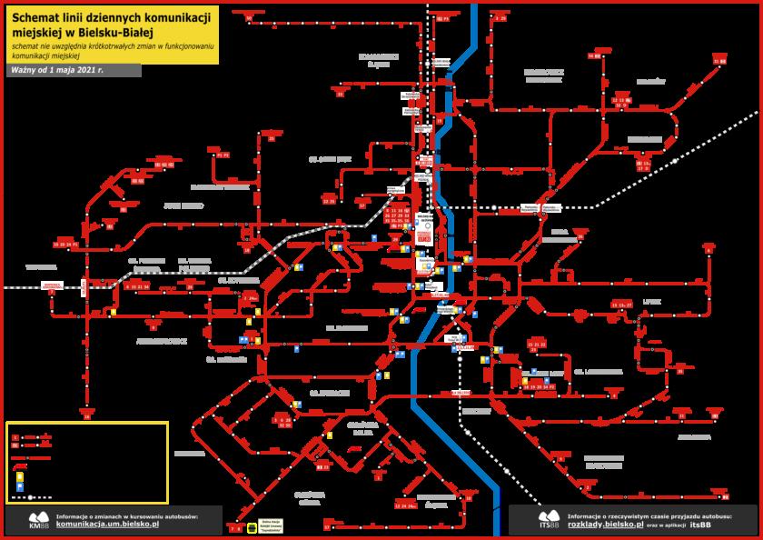 schemat sieci MZK 2021