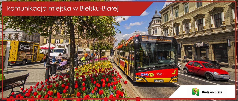 Autobus linii nr 10 przy Placu Bolesława Chrobrego.