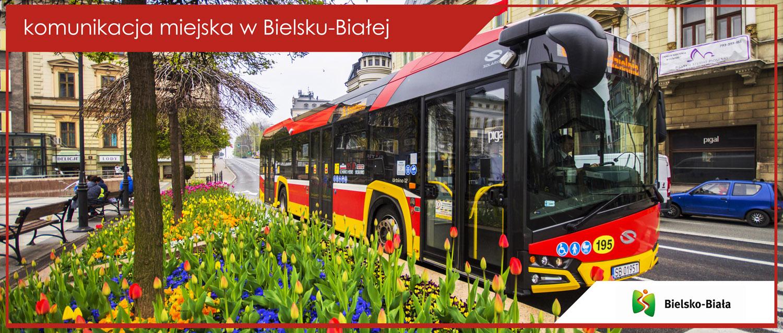 Autobus linii nr 8 przy Placu Bolesława Chrobrego.