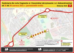 Objazd - zamknięcie ul. Cieszyńskiej